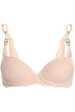 STELLA McCARTNEY Smooth And Lace stretch-jersey underwired push-up bra