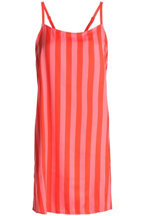 DKNY Striped crepe de chine chemise