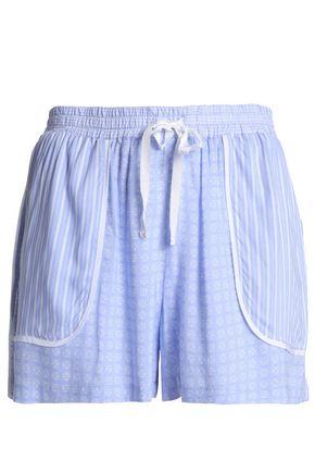 DKNY Printed voile pajama shorts