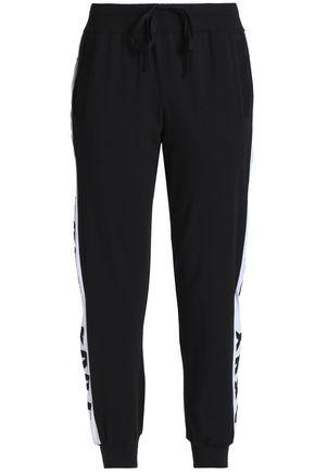 DKNY Cotton-blend jersey pajama pants