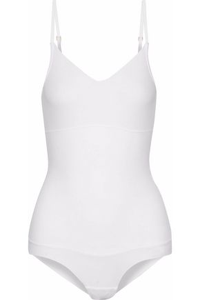 YUMMIE by HEATHER THOMSON Midsection support cotton-blend bodysuit