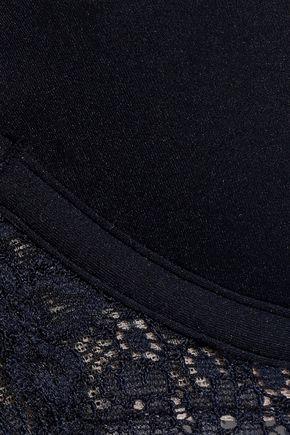 STELLA McCARTNEY Lace-trimmed stretch-jersey push-up bra