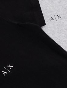 ARMANI EXCHANGE CLASSIC CREWNECK LOGO SHIRT, 2 PACK Undershirt Man e