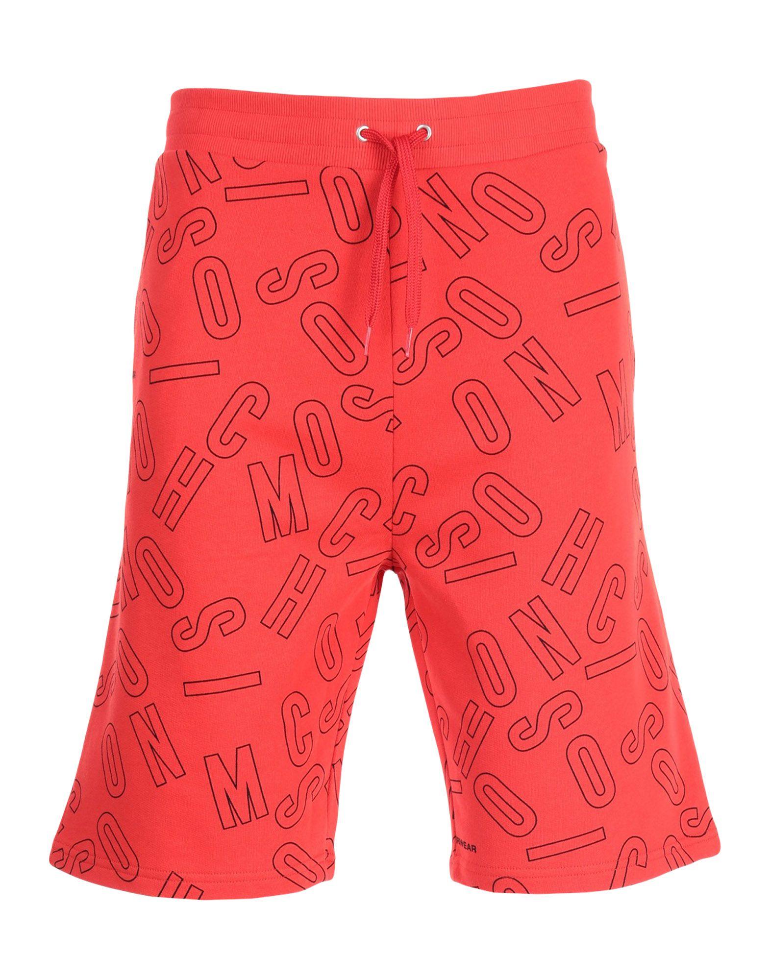 《送料無料》MOSCHINO メンズ パジャマ レッド XS コットン 100%