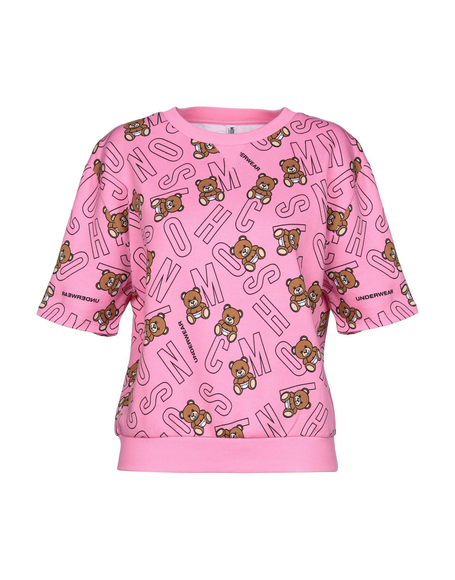《送料無料》MOSCHINO レディース パジャマ ピンク XS 100% コットン
