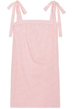 THREE J NYC Printed cotton-mousseline nightdress