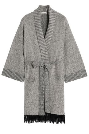SKIN Fringed Supima cotton-blend terry robe