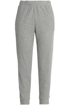 SKIN Ribbed cotton-blend jersey pajama pants