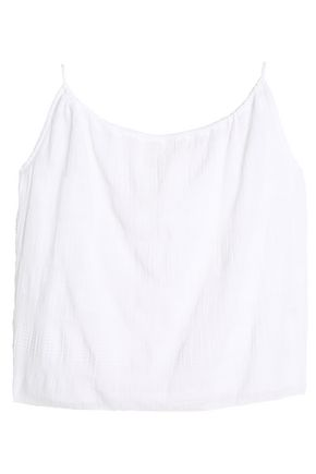 ae96ef0c7ccd46 SKIN Cotton-blend gauze jacquard pajama top