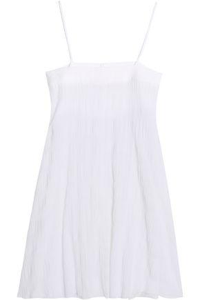 SKIN Cotton-blend gauze jacquard chemise