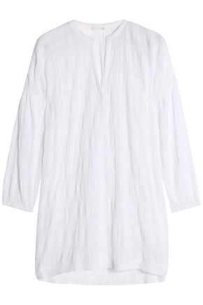 SKIN Cotton-blend gauze jacquard nightdress