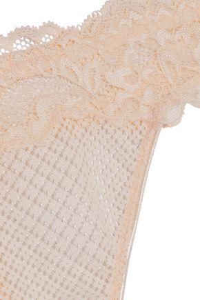HEIDI KLUM INTIMATES Dahlia Dreams lace and mesh low-rise thong