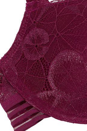 HEIDI KLUM INTIMATES Carnation Desires metallic lace underwired contour bra