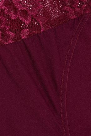 HEIDI KLUM INTIMATES Delilah Dances lace-paneled stretch-jersey low-rise briefs