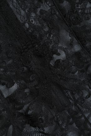 I.D. SARRIERI Embroidered tulle bodysuit