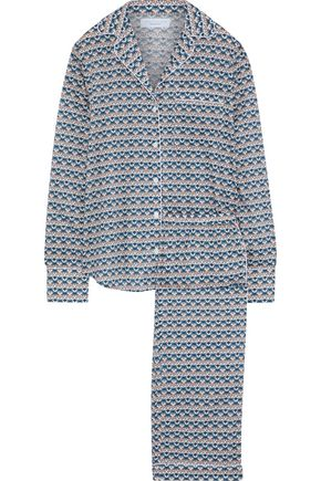 THREE J NYC Cotton-poplin pajama set