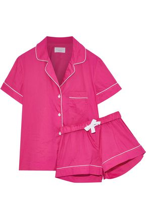 THREE J NYC Eloise cotton-poplin pajama set