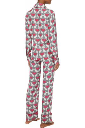 THREE J NYC Coco printed silk pajama set