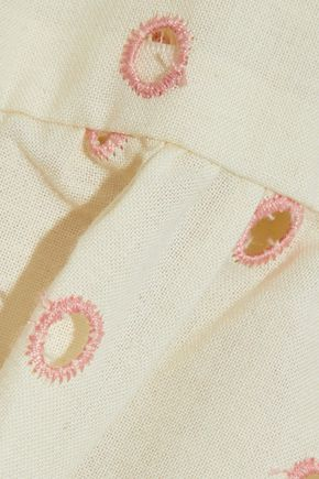 THREE J NYC イギリス刺繍入り コットン パジャマセット