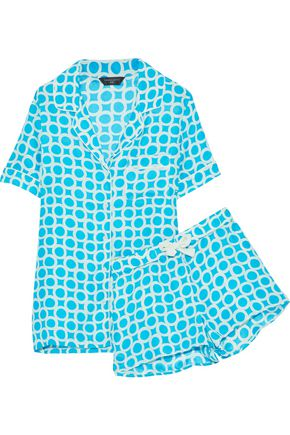 THREE J NYC Belle printed silk pajama set