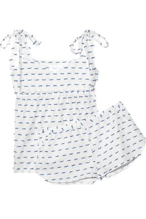 THREE J NYC Jackie fil coupé cotton-voile pajama set