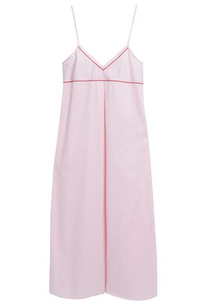 BODAS Pleated cotton-poplin nightdress