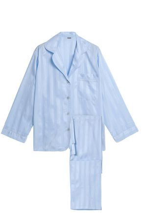 BODAS Striped cotton pajama set