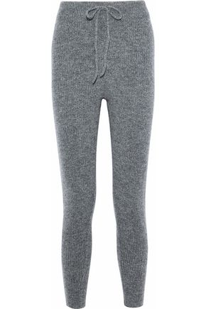 LOVE STORIES Casey mélange ribbed-knit track pants