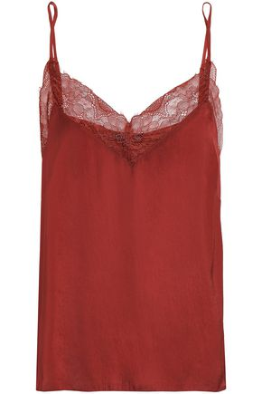 LOVE STORIES Camelia lace-trimmed sateen camisole