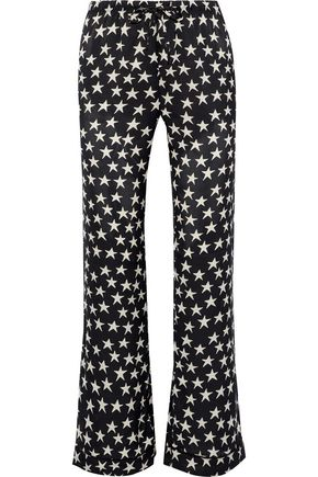 LOVE STORIES Billy printed sateen pajama pants