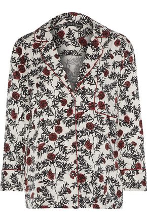 LOVE STORIES Jude floral-print sateen-twill pajama top