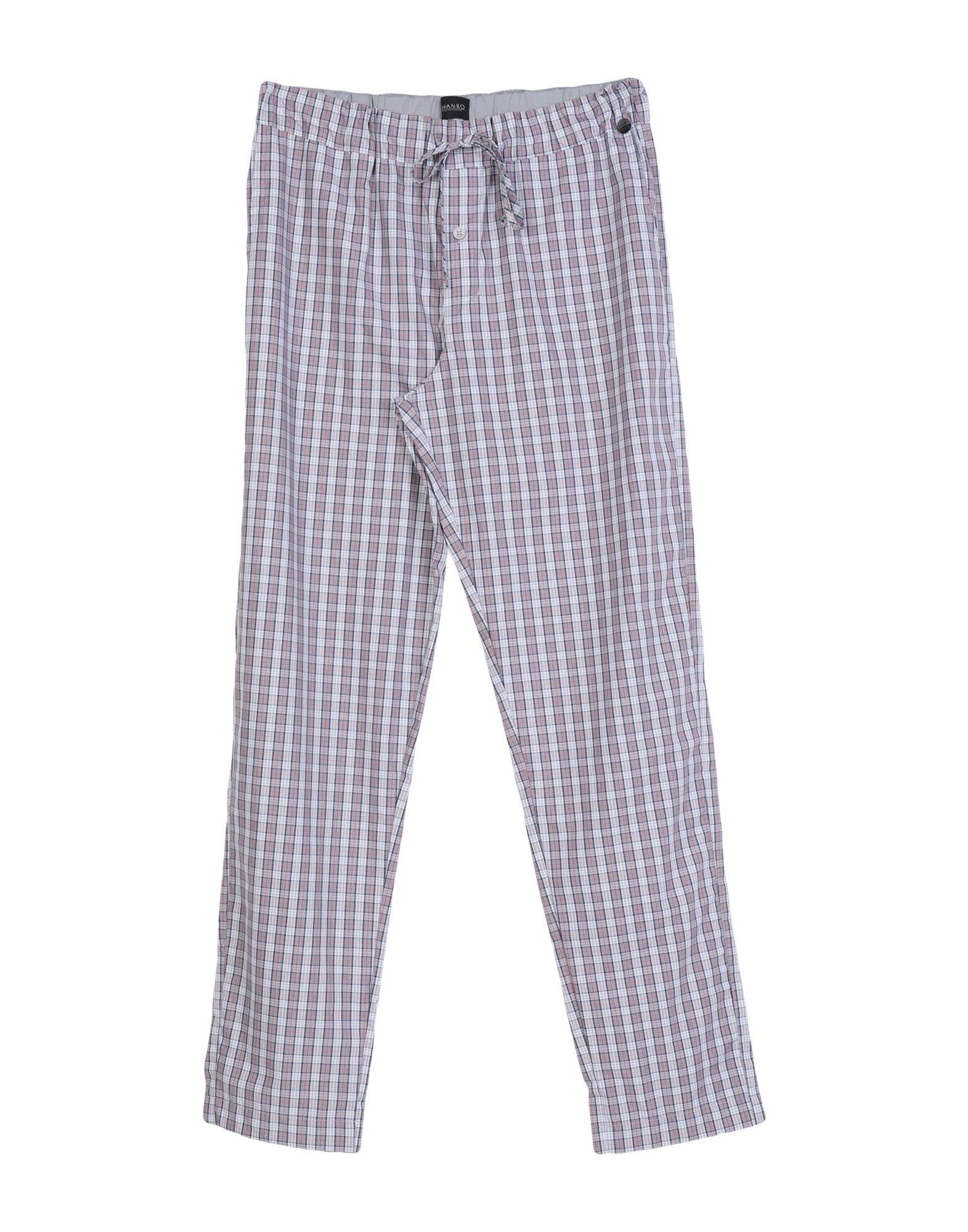 《送料無料》HANRO メンズ パジャマ レンガ S コットン 100%