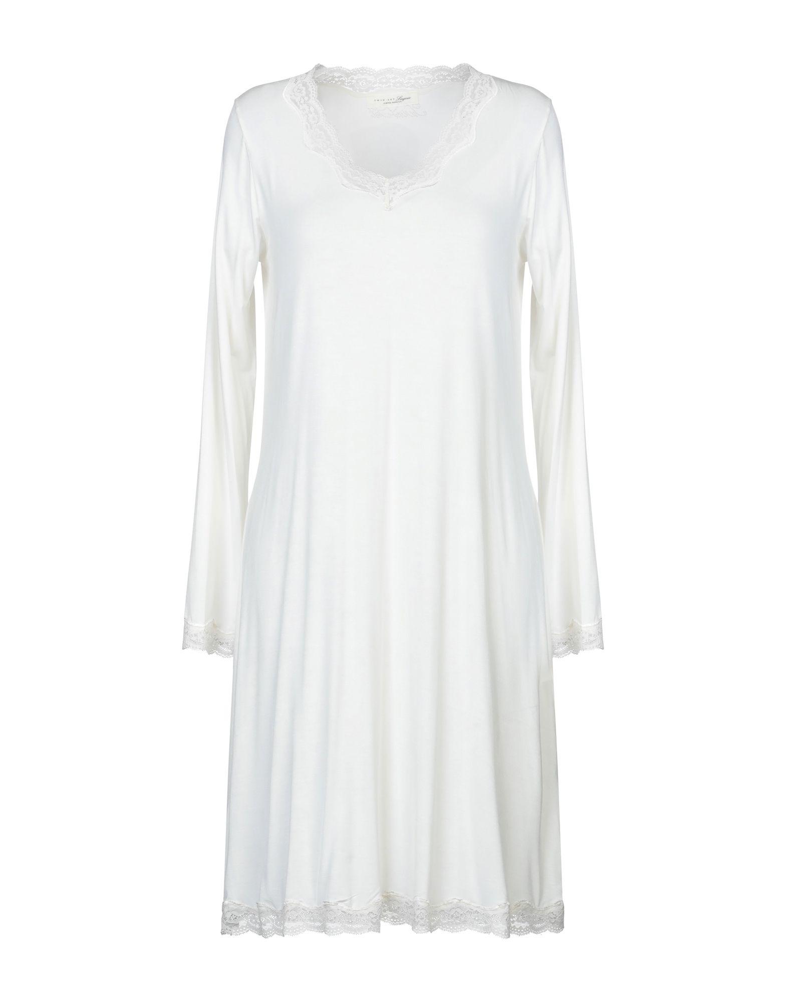 TWIN-SET LINGERIE Ночная рубашка black sexy v neck lace up design cut out lingerie set