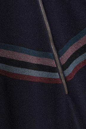 LOVE STORIES Harvey appliquéd metallic cotton-blend pajama top