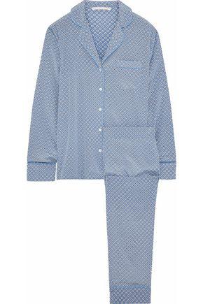 STELLA McCARTNEY Poppy Snoozing printed stretch-silk pajama set