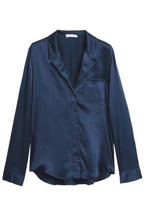 ANINE BING Silk-satin pajama top