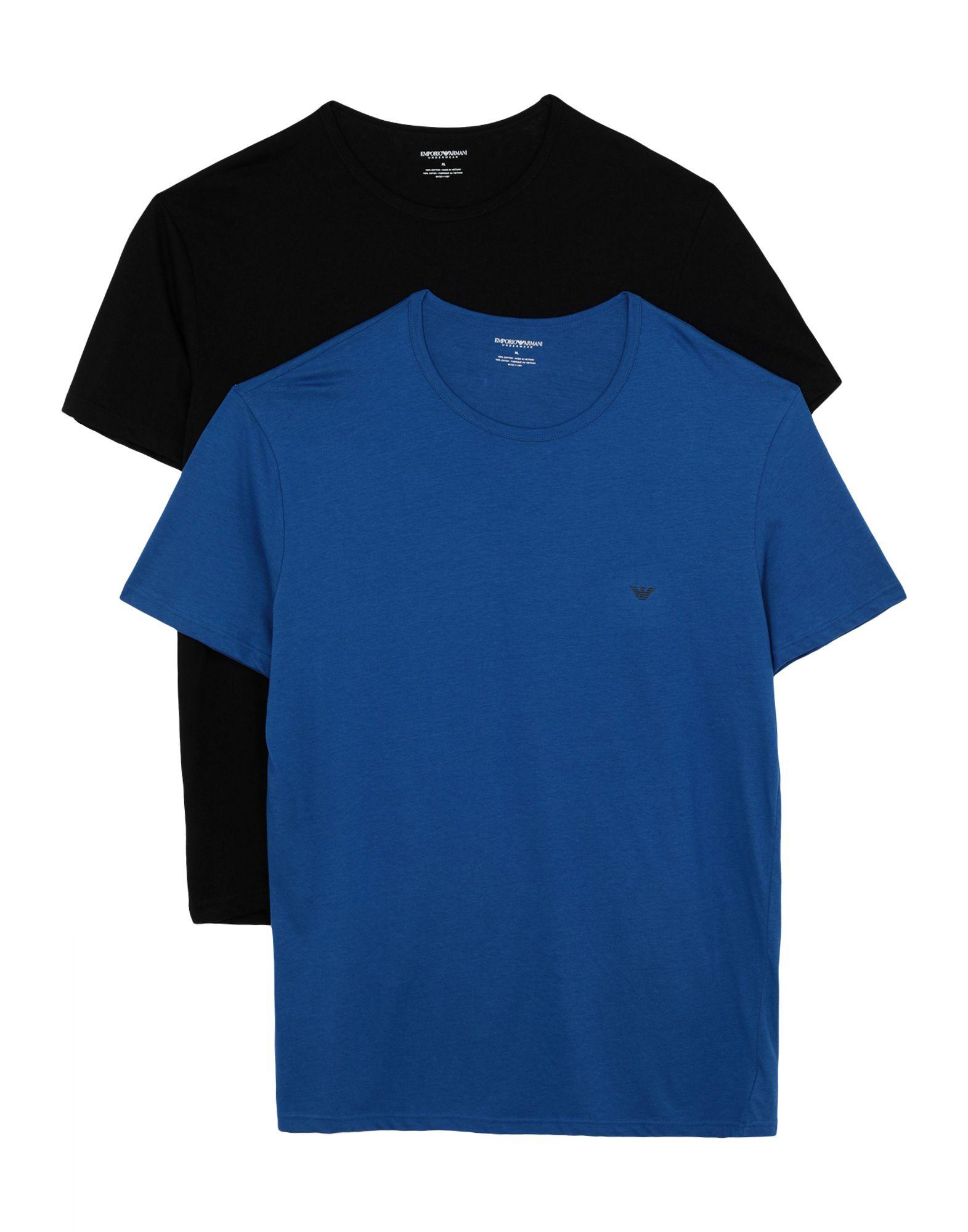 《送料無料》EMPORIO ARMANI メンズ アンダーTシャツ ブライトブルー S コットン 100% 2PACK CREW NECK T-SHIRT