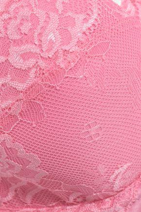 HEIDI KLUM INTIMATES Bow-embellished lace balconette bra