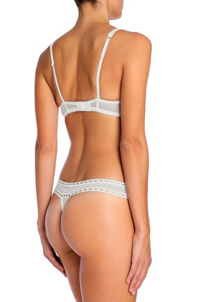 HEIDI KLUM INTIMATES Tuberose Tryst embroidered lace low-rise thong