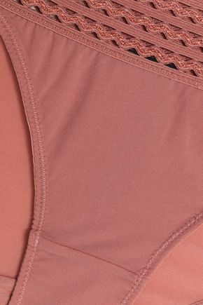 HEIDI KLUM INTIMATES Ric rac-trimmed jersey low-rise briefs