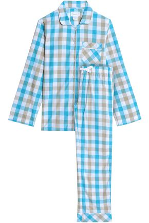 THREE J NYC Jamie gingham cotton-poplin pajama set