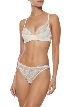 HEIDI KLUM INTIMATES Fleur Fantasy lace and stretch-jersey mid-rise thong