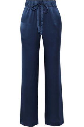 ANINE BING Piper silk-satin wide-leg pants