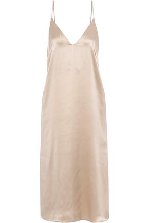 ANINE BING Gemma silk-satin slip dress