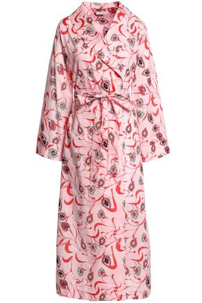 YOLKE Floral-print cotton robe