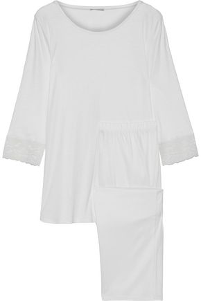 HANRO Valencia lace-trimmed modal and silk-blend pajama set
