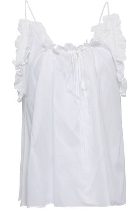 THREE GRACES LONDON Ruffle-trimmed cotton-voile camisole