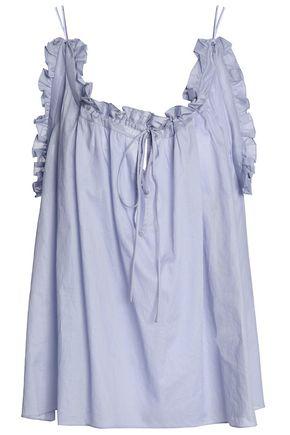 THREE GRACES LONDON Ruffled cotton-mousseline camisole