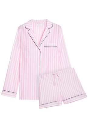 YOLKE Striped cotton pajama set