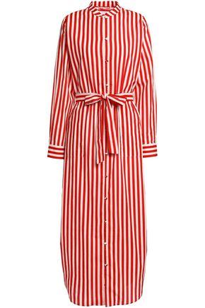 YOLKE Striped cotton-poplin pajama shirt